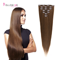 Straight Clip In Human Hair Extensions 4 Remy Malaysian Human Hair Clip In Extensions Full Head