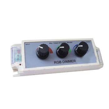 LED 3 Channel Dimmer Adjust Brightness Controller For RGB Strip Light buc