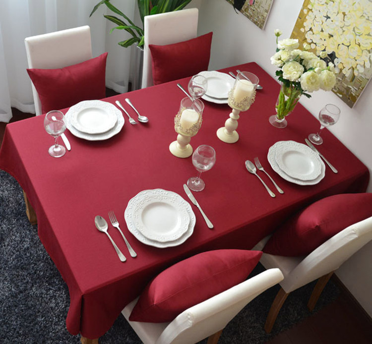 Comfortable Cotton Tablecloth Table Cover Cloth, Desk Cover, 9sizes available, M-Home(China (Mainland))