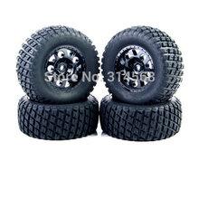 4 PCS/Set RC 1:10 Short Course Truck Tires Set Tyre Wheel Rim For TRAXXAS SlASH HPI Remote Control Toy Car Model Toy Parts G(China (Mainland))