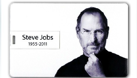 New Steve Jobs Credit Card Shaped USB Flash Drive 2.0 Memory Stick 8GB Custom Retail And Wholesale Unique Commemorative Card