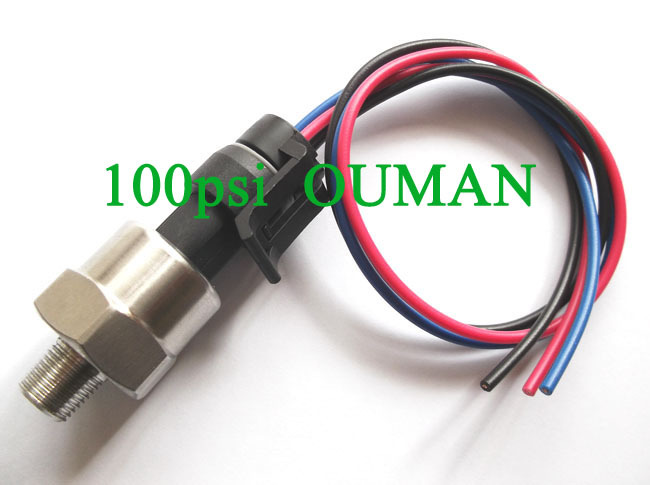 Free shipping Pressure Transducer or Sender, 200 psi,for Oil,Fuel,Diesel,Gas,Air.Can't for Water(China (Mainland))