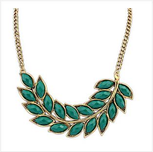 Старинные мода ювелирных изделий листьев колье ожерелье для женщин 2015 новое заявление ...