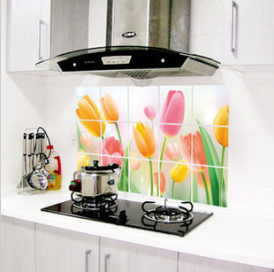 75*45CM Flower Kitchen Wall Stickers Decal Home Decor Art Accessories Decorations Supplies Gear Items Stuff Products(China (Mainland))