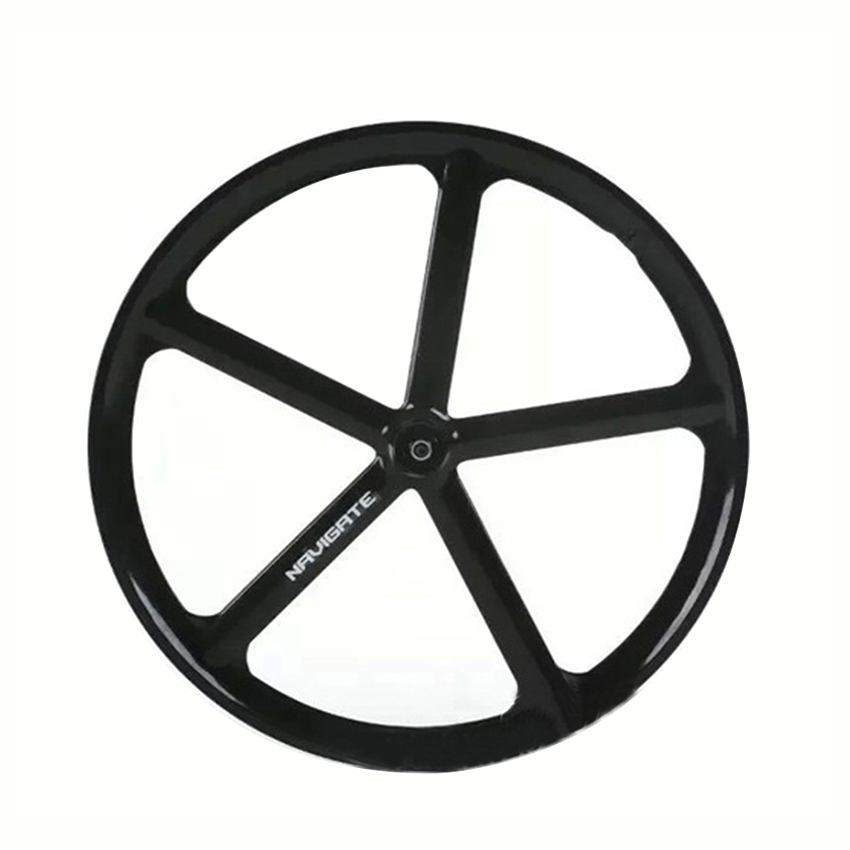 Фотография Magnesium Alloy road bike 700C wheel 5 spokes fixie Bicycle Mag TRI front rear wheel Mag Alloy Fixed gear bike wheels Rims