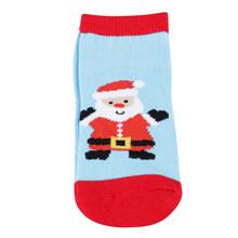 Детские носки для малышей рождественские хлопковые теплые нескользящие носки с рисунком для новорожденных забавные носки с наполнителем д...(China)