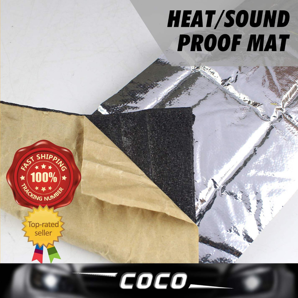 "CAR TRUCK MAT PAD 40""x40"" 100cmx100cm FOIL Deadening SOUND HEAT Control Shield INSULATION Exhaust Deadener Muffler BLANKET(China (Mainland))"