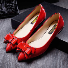 shoes woman spring 2016 slip on flat shoes for womens casual bowtie flats comfort ladies work