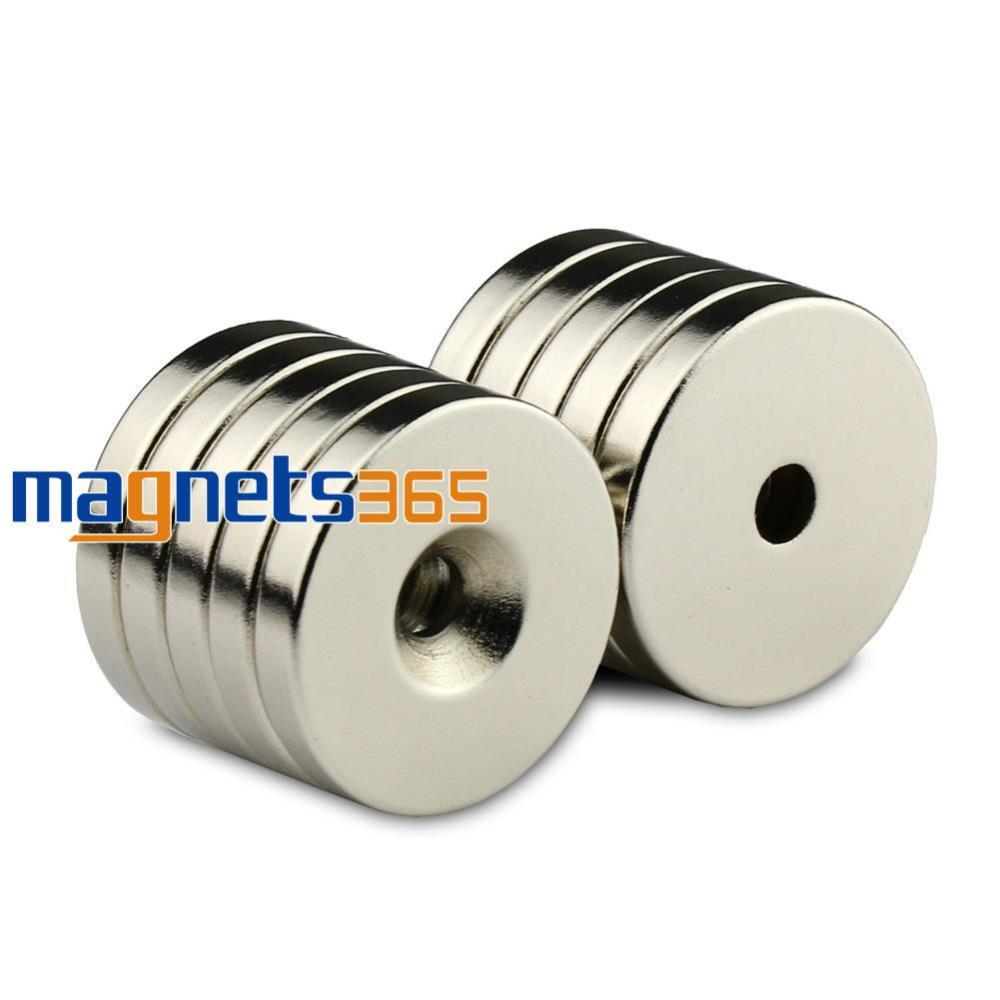 5pcs N50 30mm x 5mm Ring Hole 5mm Strong Round Rare Earth Neodymium Magnet <br><br>Aliexpress