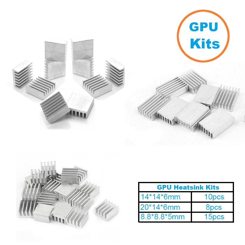 1Set/33pcs Aluminum Heat Sink Radiator Heatsink Cooler Kit for GPU Graphics Card ,VGA Video Card Heat Dissipation(China (Mainland))