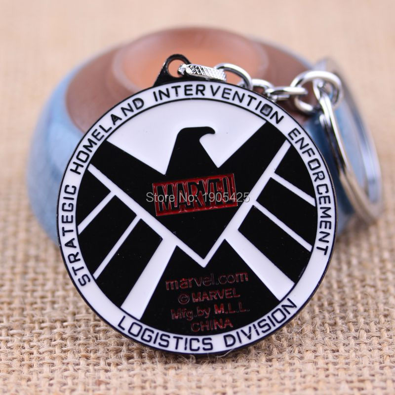 Movie Series Hot Sale Accessories Marvel Comics The Agents of Shield Eagle Logo Pendant Keychian<br><br>Aliexpress