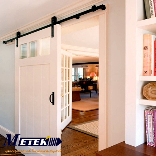 4 9ft 6ft 6 6ft carbon steel interior barn wood door for Interior sliding door track system