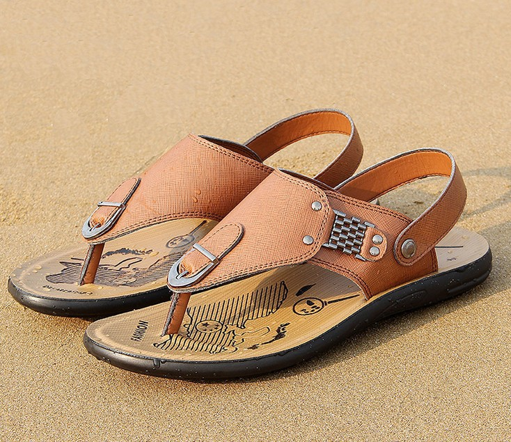Wide Feet Sandals Men Leather Sandals Wide Feet