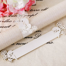 20 Pcs White Heart-shaped Napkin Rings
