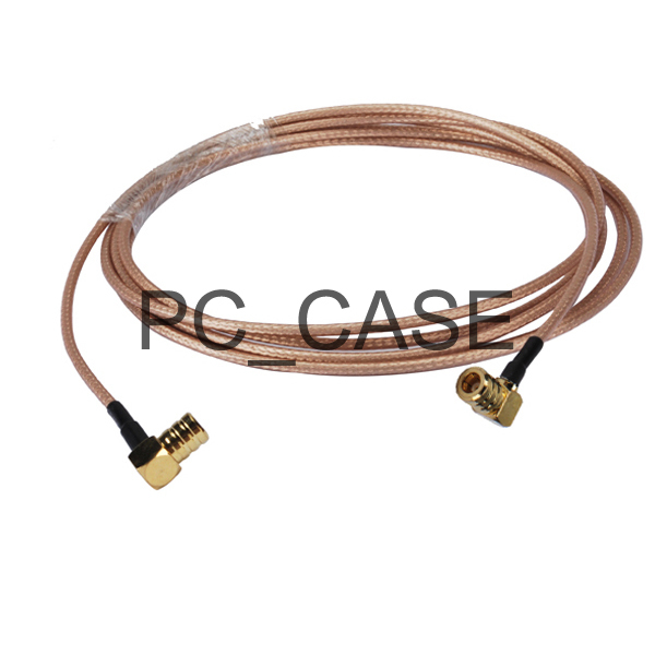 6in RF electrical wirie coaxial cable connector SMB plug right angle to SMB male pigtail RG316 15cm for wireless antenna(China (Mainland))