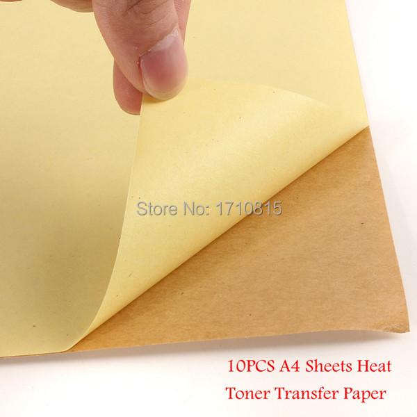 New 10 Pcs Kraft Sticker Paper Heat Toner Transfer A4 Self Adhesive Brown Printing Copy Label Paper For Laser Inkjet Printer(China (Mainland))