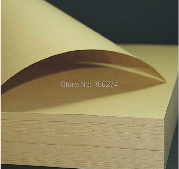 Wholesale 10pcs/lot 300G Eco-friendly A4 brown Kraft Paper Craft Paper Printing Paper Materials DIY Scrapbooking Paper(China (Mainland))