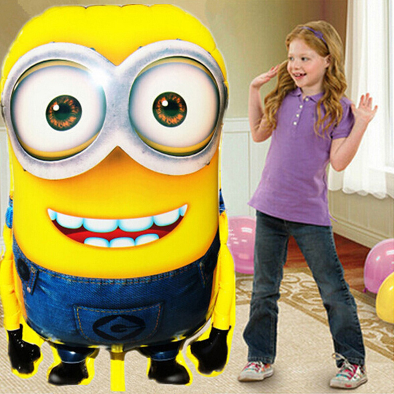 Hot Sale 92*65cm Large Minions Balloons Despicable Me Minion Foil Balloon Minion Dave Balloon Birthday Party Balloon Decor(China (Mainland))