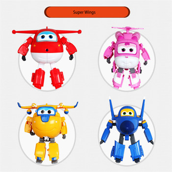 Super Wings Big 15cm ABS Deformation Airplane Robot Action Figures Super Wing Transformation Toys for Children Gift Brinquedos