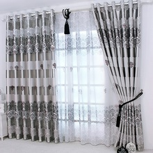 1 pc 2016 New Curtains for Windows Drapes European Modern elegant noble printing shade curtain for living room bedroom(China (Mainland))