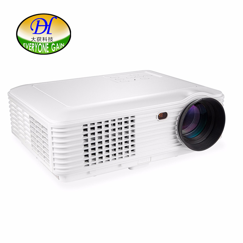 Everyone Gain 5200Lumens Quadcore Android OS WiFi Smart 1280*800P 3D Full HD LCD Home Theater TV LED Projector Video DH-TL120A(China (Mainland))