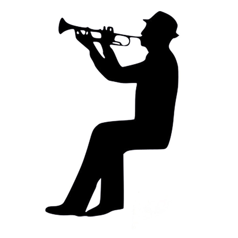Man Playing Trumpet Switch Decal Cartoon Fashion Wall Vinyl Wall Sticker 5WS0003