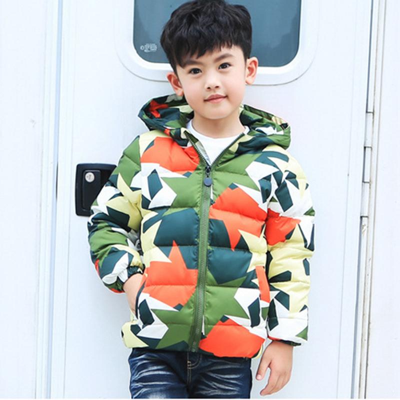 Winter Coat Boy Jacket Children Clothing Handsome Boys Korean Style Big Kid Thick Coats Kids Hooded Parka Camouflage 5807E - Jefferson Brand store