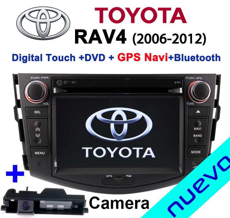 Toyota rav4 gps navigation dvd player with Bluetooth Radio USB SD Free map Rear camera parking(China (Mainland))