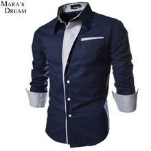 2016 nueva camisa para hombre de gran tamaño camisa Casual Slim Fit camisa Formal Social a rayas de cuello de moda camisas de la boda(China (Mainland))