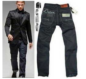 Classic Brand new Men's Jeans 8101# Cotton Denim Casual Straight Washed Pants Black Fashion Size:28~38 - There are more beautiful store