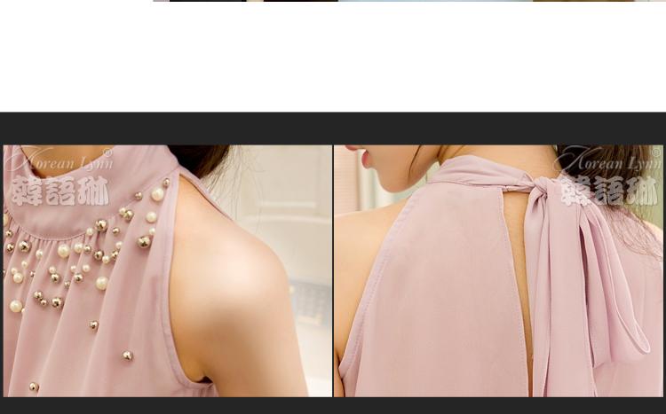 Оформление Горловины Шифоновой Блузки Бисером