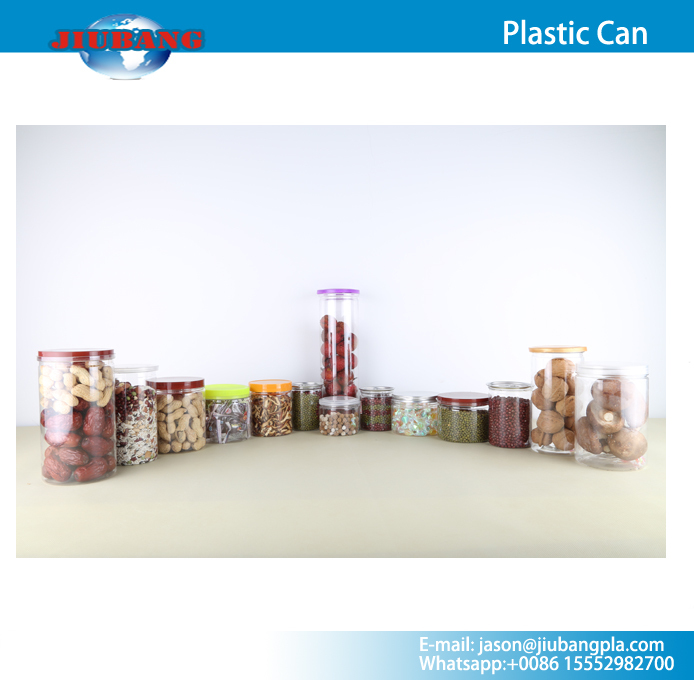 Customized Food packaging PET plastic can used in market for packaging food candy cookie soda beverage(China (Mainland))