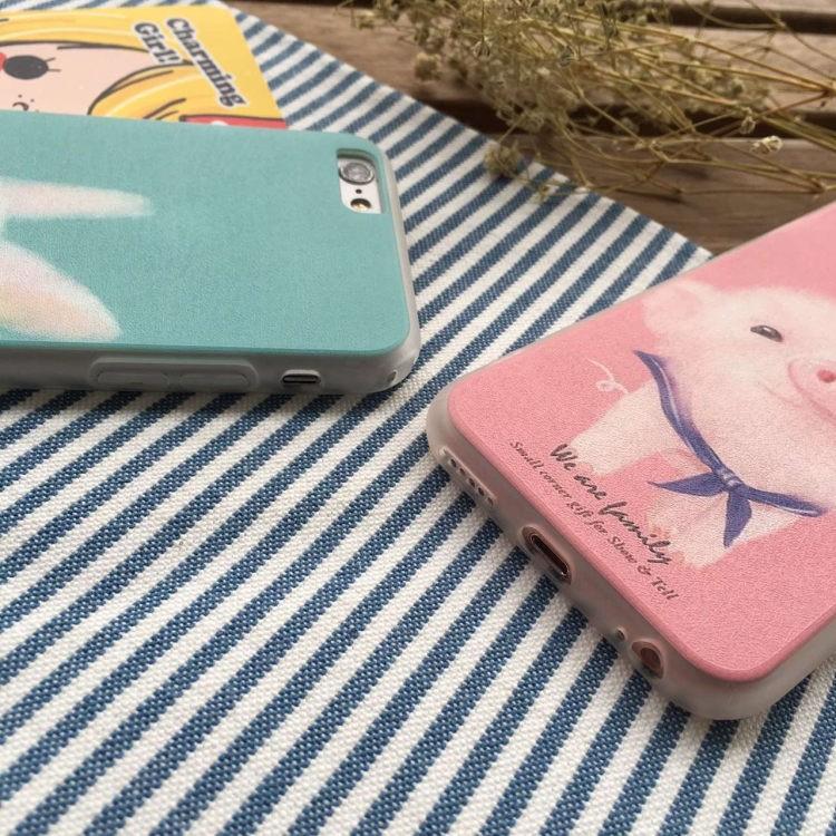 Korea stay Meng cute little bunny piggy phone shell casing for iphone 6s 6plus Apple Fangshuai couple