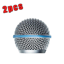 2PCS New Replacement Ball Head Mesh Microphone Grille for Shure BETA58 BETA58A SM 58 SM58S SM58LC(China (Mainland))