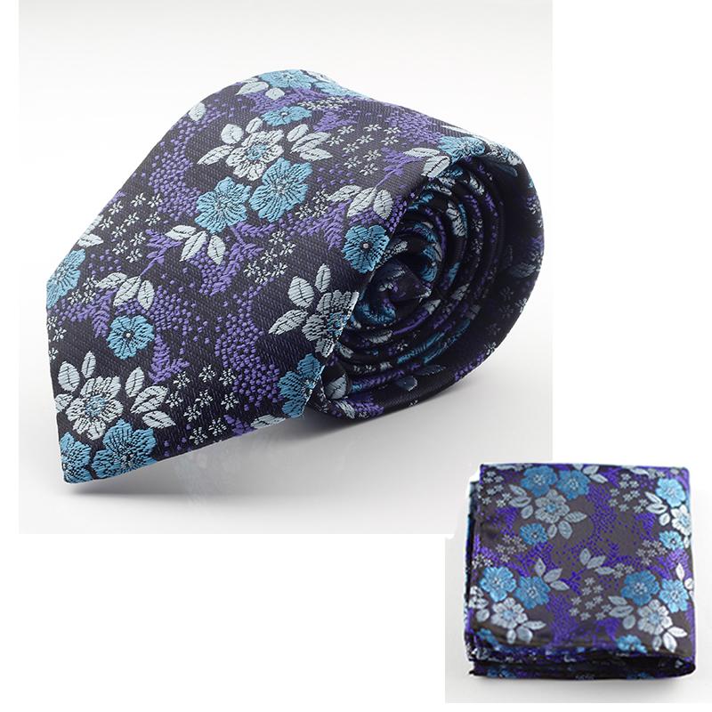 GUSLESON New Design Silk Tie Set for Men 7cm Tie Men Handkerchief Necktie Cravate Man Corbatas Hombre Floral Slim Wedding Tie(China (Mainland))