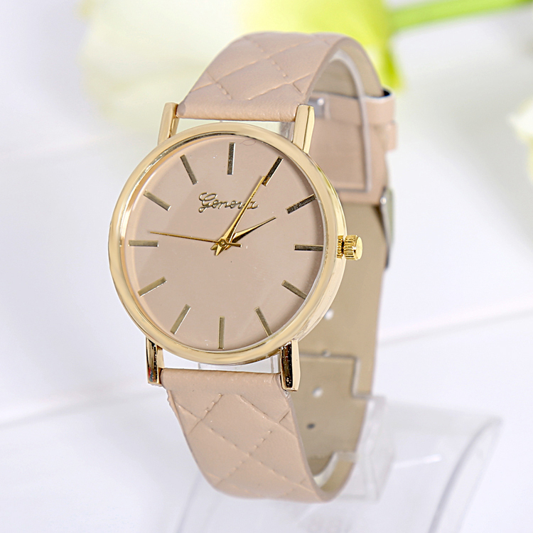 Lowest price simple refreshing watches 2015 New Arrival Women Casual Watch ventage Leather Refined Ladies Quartz