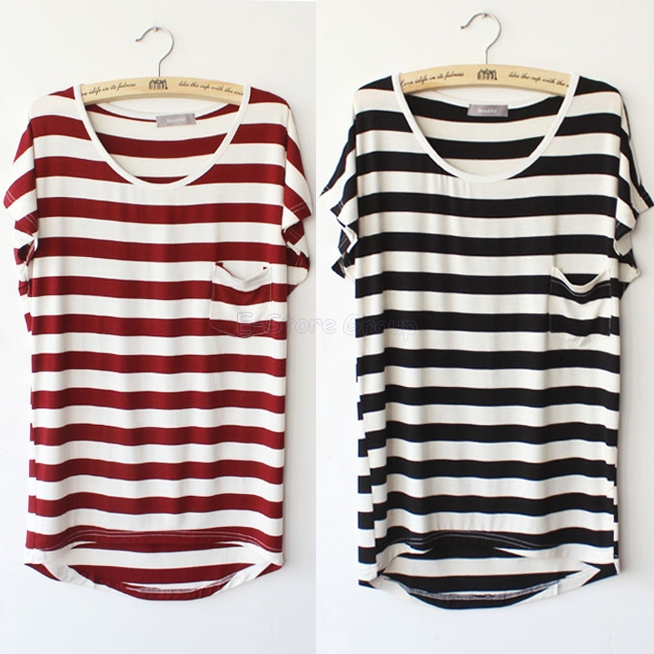 Womens Red And White Striped Shirt | Is Shirt