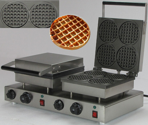 Stainless steel  Double heads Round Waffle cone maker machine<br><br>Aliexpress