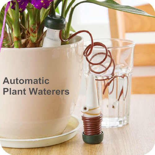 12 pcs/Lot Indoor auto drip irrigation watering system Automatic plant waterers for houseplant seen TV Novelty households 5156(China (Mainland))