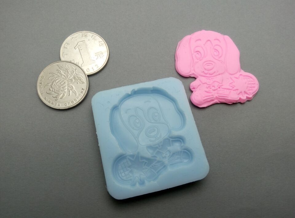 Cake Decoration Molds : New Chocolate Mold dog cartoon DIY fondant cake mold resin ...