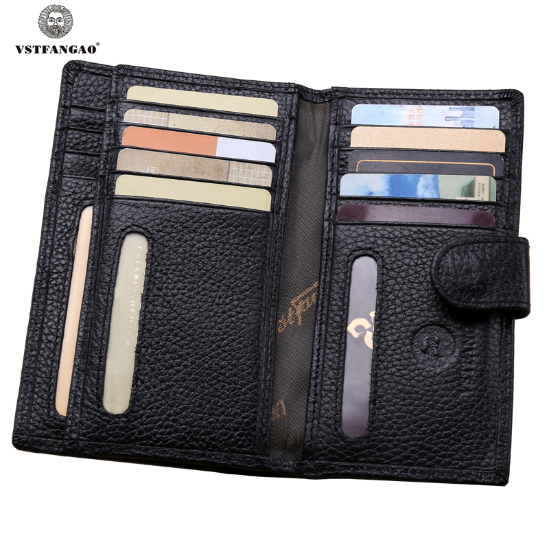 Fashion Women Men Business Genuine Leather Card Holder Famous Designer Brand Credit Card&ID Holder Bag Case Card Wallets Black(China (Mainland))