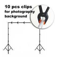 Cheap 10pcs/pack Photo Studio Light Photography Background Clips Backdrop Clamps Peg Photographic Equipment