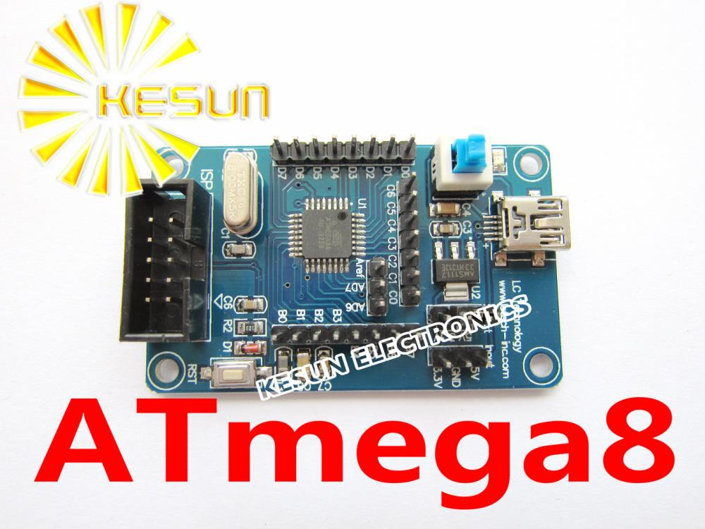 FREE SHIPPING 5PCS ATmega8 Mega8 M8 AVR Development Board Minimum System Board(China (Mainland))