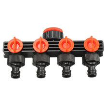 Hot Garden Hose Pipe Splitter Plastic Drip Irrigation Water Connector Agricultural 4 Way Tap Connectors(China (Mainland))
