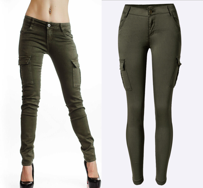 Popular Women Skinny Jeans Army Green-Buy Cheap Women Skinny Jeans