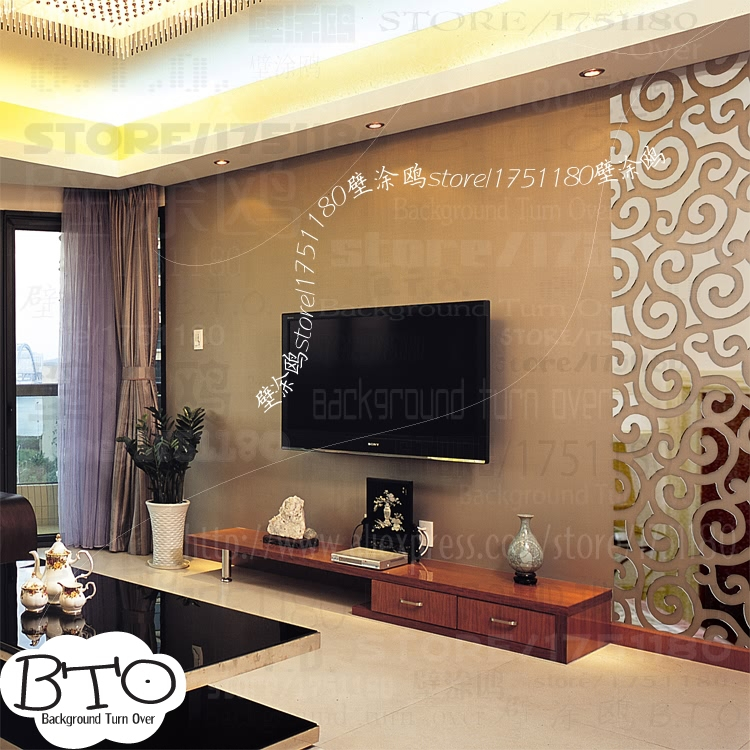 Diy auspicious clouds pattern traditional chinese 3d for Best wall decor for living room