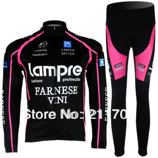 New Lampre Jerseys & Pants Cycling Clothes Autumn & Spring Seasons(China (Mainland))