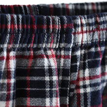 Ms male song Riel autumn fashion plaid long sleeved cotton pajamas casual tracksuit Couple Set wonderful