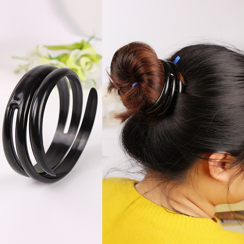 New Fashion Women Magic Plastic PVC Hairdisk Hair Device Donut Quick Messy Bun Updo Headwear Hair for Women & Girls Accessories(China (Mainland))