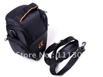 DHL free shipping  Wholesale 20pcs Triangle Camera Bag/ Case/ Pouch/ Protector/ Waist Bag for SONY A100 A200 A300 A350 A700 A900